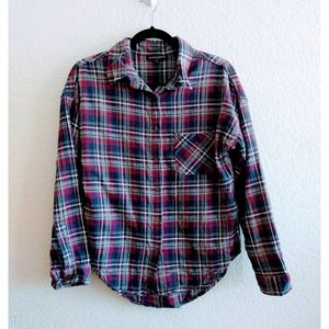 Brandy Melville Flannel Plaid Shirt OZ Fits All